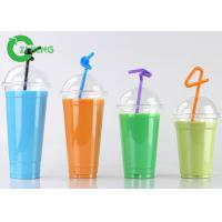 Recycled Custom Disposable Plastic Cups With Dome Lid Stocked For Coffee Manufactures