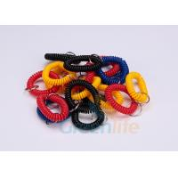 Split Ring Flat Weld Plastic Wrist Coil Badge Accessories Various Colours Manufactures