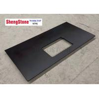 Custom Black Corrosion Resistant Epoxy Resin Lab Countertops For Analysis Room Manufactures