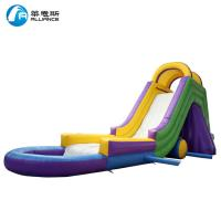 China Colorful Kids Inflatable Water Slide Waterproof With Painting / Sewing on sale