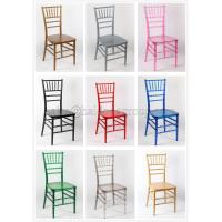 Colorful Resin Chiavari Chair Recyclable , Tiffany Office Chairs