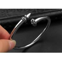 Punk Womens Black Open Bangle Bracelet With Customized Logo , CE Certisficated Manufactures