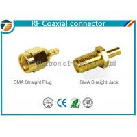 Male Plug SMA Straight Crimp RF Coaxial Connector For RG174 TOP-SMA-1 Manufactures