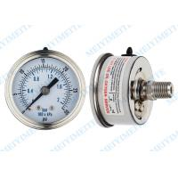 Movement sealing 63mm back stainless steel pressure gauge with crimp bezel Manufactures