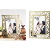 China Clear Double Glass Photo Frame , Glass And Metal Picture Frames For Store Decor on sale