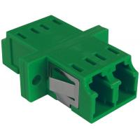 China Plastic LC Duplex Adapter RJ45 Type Single Mode To Multimode Adapter With Panel Clip on sale
