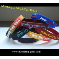 Hot Selling promotion Colorful logo fashion custom silicone wristband/bracelet Manufactures