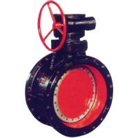 Ductile iron concentric double flange butterfly valve