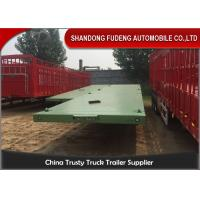3 Axle 20ft 40ft Container Transport Flatbed Container Trailer / Flatbed Semi Trailer Manufactures