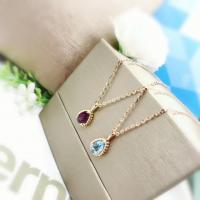 Buy cheap 16 - 18 Inch Chain Gold Gemstone Pendants For Casual / Office / Career from wholesalers