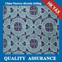 China High quality jacquard cotton lace fabric for ladies dress on sale