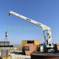 4m Hydraulic Ccs Marine Small Lifting Telescopic Boom Crane Manufactures