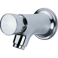 Water Saving Chrome Self Closing Faucet Taps Wall Mounted for Home Hotel , HN-7H05 Manufactures