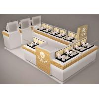 Small Space Retail Shopping Mall Kiosk / Jewellery Display Cabinets Stable Structure Manufactures
