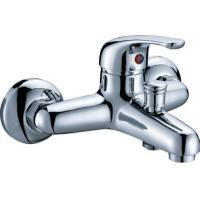 Modern Polished Two Hole Faucet , Ceramic Cartridge Bathtub Mixer Tap Manufactures