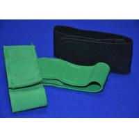 Heavy Duty Elastic Hook And Loop Strap Cinch Straps , Green Black Manufactures
