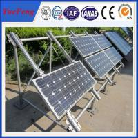 Tin Roof PV Solar Panel Aluminum Mounting System , solar brackets, commercial solar system Manufactures