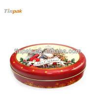 fancy oval christmas tin box Manufactures