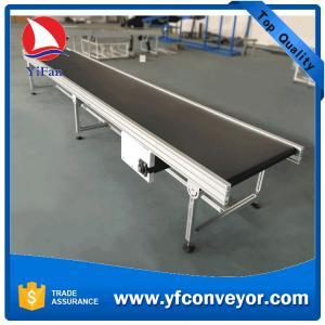 China Flat Belt Conveyor with Aluminum Frame on sale