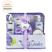 China Cleaning Body Bath Gift Sets Lavender Purple Soothing Feature Eco - Friendly on sale