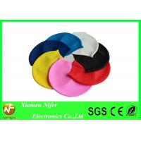 China Waterproof Adult Silicone Swim Caps for Long Hair , Personalized Swimming Caps for Kids on sale