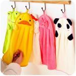 Cute Animal Microfiber Kids Children Cartoon Absorbent Hand Dry Towel Lovely Hand Towel Manufactures