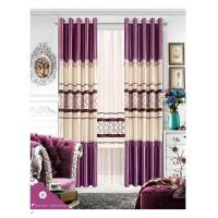 China Fashion Modern Dyed Solid Color Luxury Ready Made Curtains , Custom Bedroom Window Curtains on sale