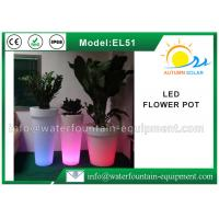 IP68 Waterproof LED Flower Pot , Smart Controlled Changing Colored Pool Lights Manufactures