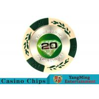 Quality 14 Gram Matte Sticker Custom Clay Poker ChipsWith 25pcs In A Shrink Roll for sale