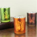 laser tealight holder laser pattern candlestick cup type candle holder Manufactures