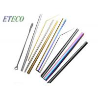 China Outdoor Portable Bent Stainless Steel Cocktail Straws Environmentally Friendly on sale