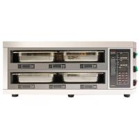 China Counter Type 2 Layer 4 Tray Food Warmer Cabinet LED Digital Display Independent Timer Setting on sale