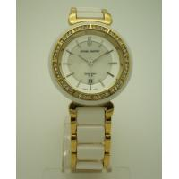 Fake Ceramics Quartz Womens Watches With Gold Plated Alloy Case Manufactures