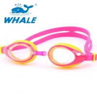 Shatterproof Silicone Swimming Goggles PC Material With Leak Proof UV Protection Manufactures