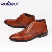 DALIBAI Lace up Turkey Brown Genuine Leather Dress Weeding Shoes for Men Manufactures