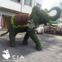 China Beautiful Large Artificial Boxwood Elephant Sculpture Elephant Topiary Animal Statue on sale