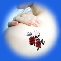 pretty flower body tattoo sticker Manufactures