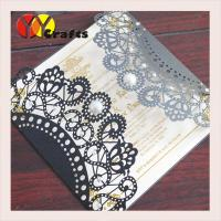 wedding invitation card hot sale black card with round buckle envelope seal Manufactures