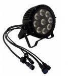 Outdoor Waterproof 9pcs*18w 6in1 RGBWA UV Led  High Quality Wash Slim Par Light