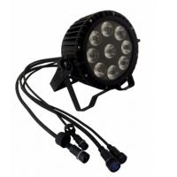 Quality Outdoor Waterproof 9pcs*18w 6in1 RGBWA UV Led  High Quality Wash Slim Par Light for sale