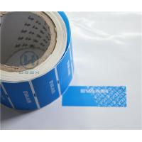 Clear Bronzing Self Adhesive Security Labels Professional Design For Cosmetic Manufactures