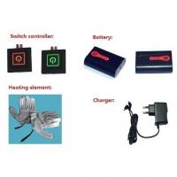 Buy cheap Electric Rechargeable Heated Gloves System: Batteries + LED Button+Charger+Heating Element from wholesalers