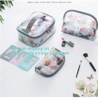 Travel Luggage Pouch Custom Clear Transparent PVC Travel Toiletry Bag Make Up Cosmetic Bag,Vinyl Wash Beauty Cosmetic Tr Manufactures
