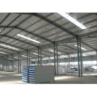 China Hot Rolled / Welded Steel Structure Poultry House With Fire Resistant Panel Wall on sale
