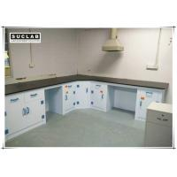 Corrosion Resistant PP Structure Chemical Laboratory Furniture With Phenolic Resin Countertop Manufactures