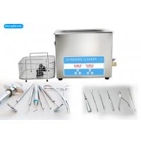Digital Control Dental Ultrasonic Cleaner For Drills 450W Heater Available Manufactures