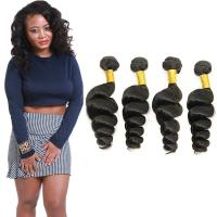 Natural Brown Loose Curly Brazilian Remy Virgin Hair No Synthetic Hair Manufactures