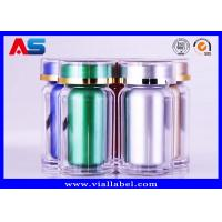 Durable Acrylic Plastic Pill Pots 60CC Pharmacy Capsules Cylinder Bottle Manufactures