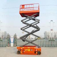 China Manganese Steel Upright Mobile Hydraulic Scissor Lifting Platform CE Certification on sale