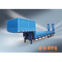 3 axle 80 ton payload hydraulic low bed semi trailer for machine transport with bogie suspension Manufactures